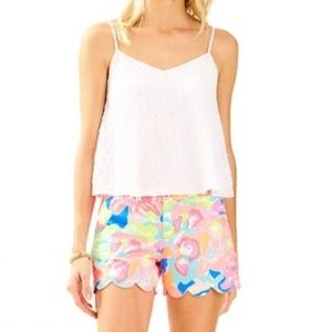 NWT Lilly Pulitzer Aletta Top Crop White Small